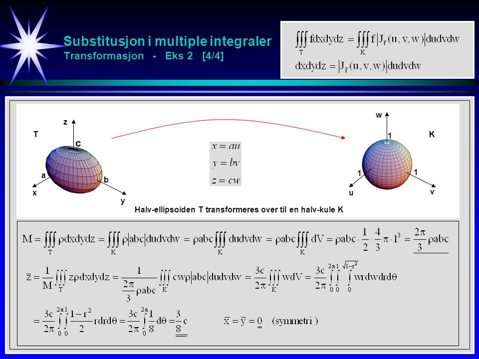 Substitusjon i multiple integraler Transformasjon - Eks 2 [4/4]